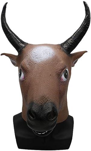 bajo precio Encantador Festival Fiesta de Disfraces Diverdeido de Látex Toro Cabeza Cabeza Cabeza Máscara Cosplay de Halloween Máscara de Cabeza Animal Diverdeido Máscara Cabeza de Toro Lindo  ofrecemos varias marcas famosas