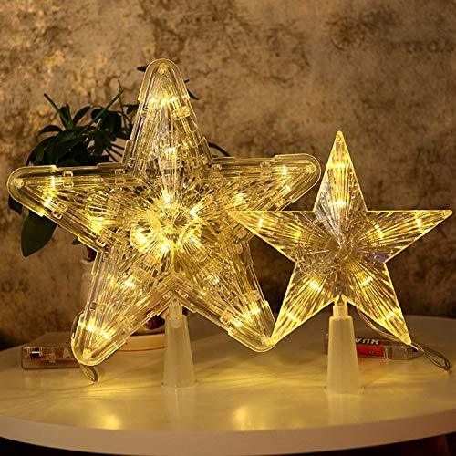 Christmas Tree Topper, Star Tree Topper Christmas Decorations with LED Lights, Home Holiday Party Supplies for Christmas Tree Decoration