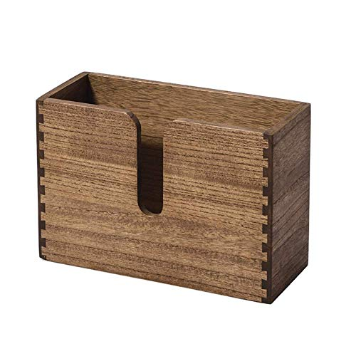 Dispensador de toallas de papel de pared de madera El porta toallas de papel tiene pliegue C, pliegue Z y tríptico Servilletas de papel de mano Marrón oscuro