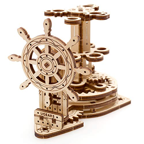 UGEARS Wheel Organizer - Puzzle 3D per Adulti Portapenne in Legno Ecologico – Modello Meccanico Puzzle di Legno Rompicapo in Legno per Adulti Giocattolo educativi per Bambini