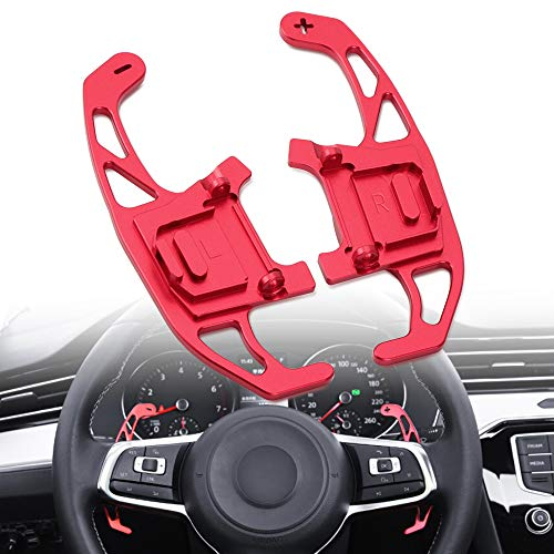 DSG Steering Wheel Shift Paddles Shifters Replacement Kit RED For VW Volkswagen Golf MK7 GTI R R-line Scirocco 2014-2019