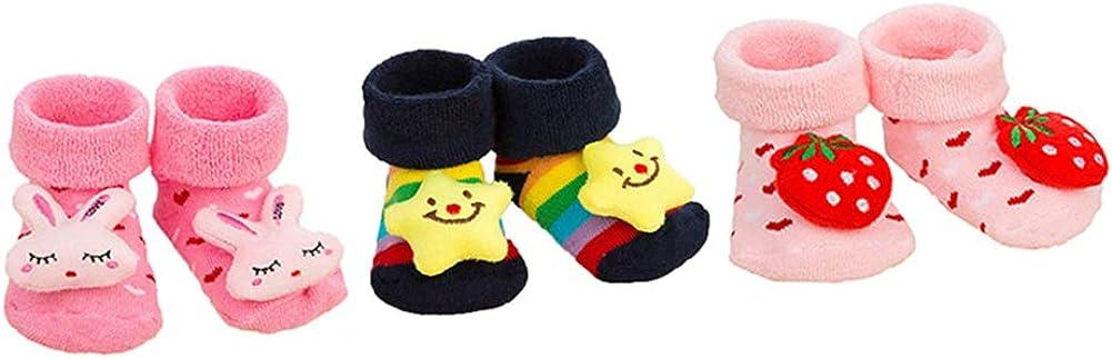 Baby Boys Girls Socks Gift Set Shower Gifts Toddlers Socks to Prevent Slip