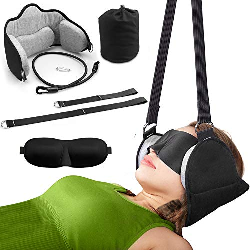 Head Hammock, for Neck Pain Relief and Physical Therapy, Relieves Stress, Headaches and Neck Support, Cervical Traction Device for Neck and Shoulder Pain,