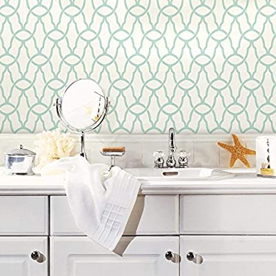 RoomMates RMK9120WP Trellis Peel and Stick Wallpaper