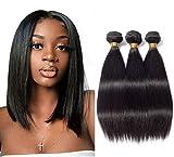 TNICE Tissage Bresilien en lot Cheveux Humains Vierges Tissage Brésilien lisse lot 100% Bresilienne raide mèches Bresiliennes Cheveux Humain Naturelles (10 10 10pouce)