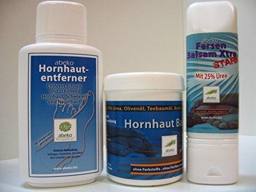 Hornhaut-Entferner + Hornhaut Balsam + Fersen Balsam - abeko - 600 ml - 3er Set