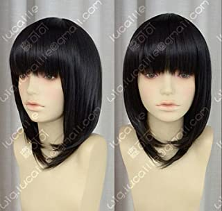 100% Real Hair! Misaki Mei Short Black Straight Animation Cosplay Wig Hair