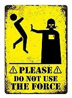 力を使わない 金属板ブリキ看板警告サイン注意サイン表示パネル情報サイン金属安全サイン