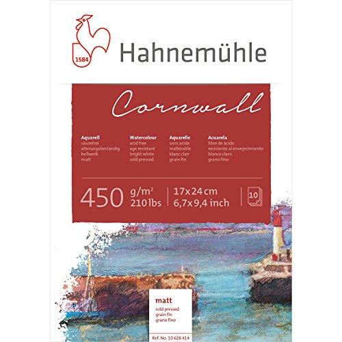 Aquarellblock Cornwall matt 450g/m², 17x24cm, 10Blatt