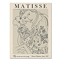 ヴィンテージピカソマティスのポスターと版画、抽象的な女の子の体の花の壁の芸術、家の装飾のキャンバスの絵画 A4 60x90cm