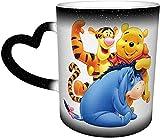 Win-Nie The Pooh Color Changing Mug Great Coffee Mug Design Ceramic Heat Sensitive Mug Color Changing Mug in The Sky