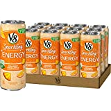 V8 Sparkling +Energy, Healthy Energy Drink, Natural Energy from Tea, Orange Pineapple, 11.5oz Ounce Can (Pack of 12)