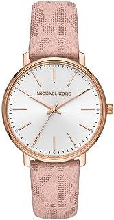 Michael Kors Pyper Women's White Dial Leather Analog Watch - MK2859