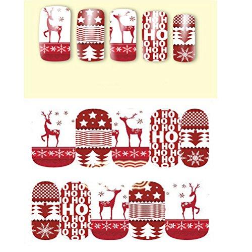PIXNOR Nail Art Stickers Noël neige Nail Art Stickers Pack de 20