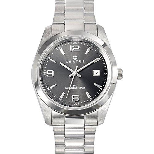 Certus Herren Analog Quarz Uhr mit Edelstahl Armband 615312