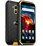 Ulefone Armor X7 Pro Téléphone Incassable(2020), Android 10 Smartphone Débloqué Antichoc Étanche IP68, Quad-Core 4Go+32Go, Photographie sous-Marine 13 MP, Batterie 4000 mAh, NFC/GPS/Double SIM Orange