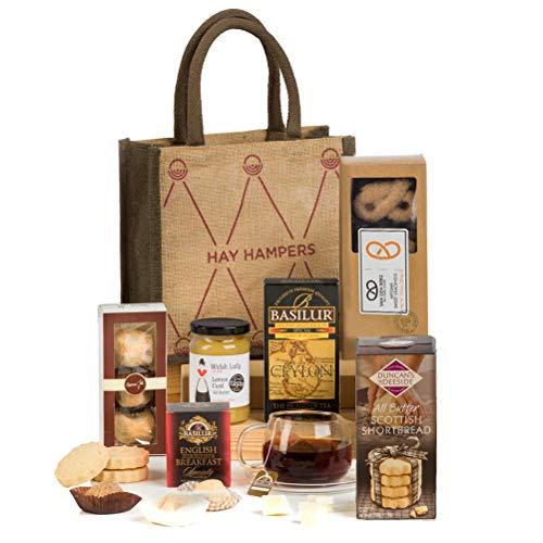 Tea Time Delights - Tea & Biscuits Hamper Gift in a Reusable Bag