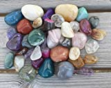 UDIG Edelsteine, Trommelsteine Mix, Glückssteine, 3-4cm große Halbedelsteine, Edelsteinmix à 28-45 Steine, Steinset 1kg - 2