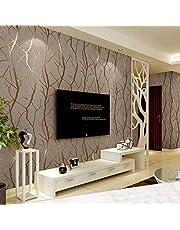 Moderne minimalistische mode vliesbehang 3D reliëf tak behang gestreept woonkamer TV sofa achtergrond