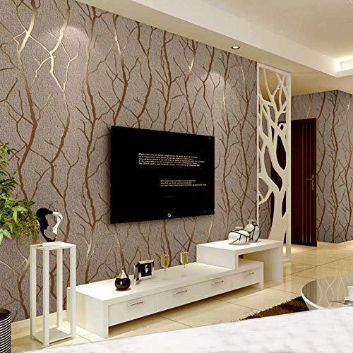 Moderne minimalistische Mode Vliestapete 3D geprägt Zweig Tapete gestreift Wohnzimmer TV Sofa Hintergrund