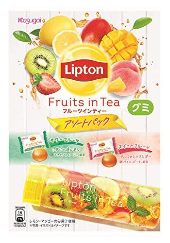 春日井製菓 リプトンフルーツインティーグミ アソートパック 83g ×12袋
