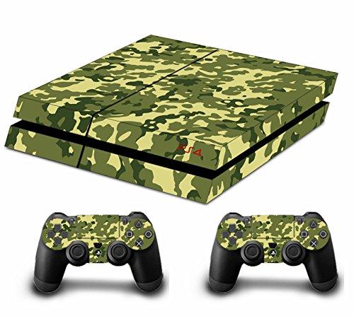 Camuflaje PLEINS Faceplates Skin adhesivo para consola PS4x 1y el mando x 2 verde tree green