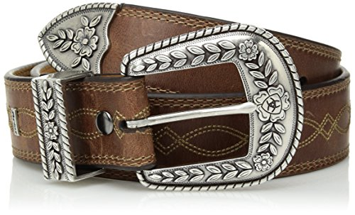 Ariat Women's Fatbaby Center Stitch Belt, brown, 34