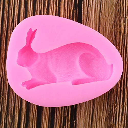 LNOFG 3D Rabbit Silicone Mold Fudge Chocolate Mold Cake Decoration Tool Candy Polymer Clay Mold