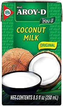 Pack of 6 Aroy-D 100 Coconut Milk 8.5 Oz