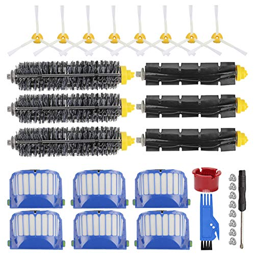 RONGJU Replacement Parts Accessories Kit Compatible with iRobot Roomba 600 Series 692 610 614 618 620 650 651 660 680 690 695, 500 Series 536 551 552 564 585 589 595 (Not for 645 655 675)