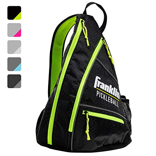 Franklin Sports Pickleball Bag - Men's and Women's Pickleball Backpack - Adjustable Sling Bag - Official Bag of U.S Open Pickleball Championships - Black/Optic, Black/Green