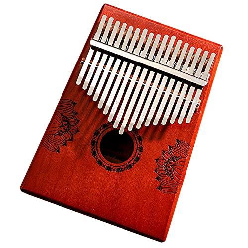 ATRNA Kalimba 17 Teclas, Pulgar Piano Marimbas Madera Maciza Instrumento Africano Mbira Finger Piano con Bolsa Protectora