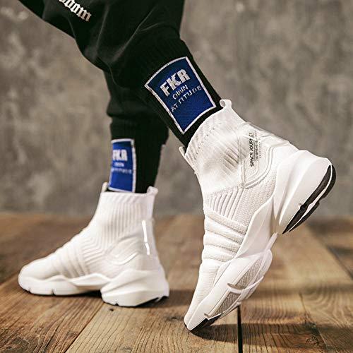 Loopschoenen Zomer Stretch Sokken Schoenen Heren Sportschoenen Hoge Schoenen Ademende Vliegende Geweven Trend Set Voet Luie Schoenen Mannen
