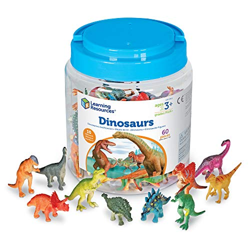 Learning Resources Dinosaur Counters  Set of 60 Colored Dinosaurs  Fine Motor Toy  Ages 3+