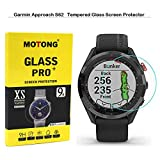 MOTONG for Garmin Approach S62 Screen Protector - Tempered Glass Screen Protectors for Garmin Approach S62 Watch,9 H Hardness,0.3mm Thickness,Made from Real Glass