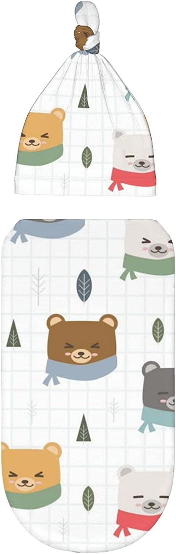 Manta para bebé recién nacido, lindos osos de dibujos animados, mantas de recepción de capullo, pañales para bebés de 0 a 3 meses, ropa para recién nacido para bebé niña
