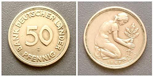 – Deutschland (1949) 50 Pfennig, Bank Deutscher Länder Prägezeichen J