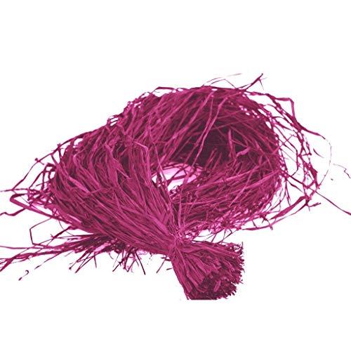 Raphia-Bast - Bast - Raphia - Raffia - Naturbast gefärbt - Dekobast - Bindebast - Geschenkbast - Fuchsia - 1 Bund mit ca. 150g - 2122-40