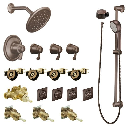 Why Should You Buy Moen KSPEX-HB-TS277ORB 7-Inch Rainshower Vertical Spa Kit with Handheld Shower an...