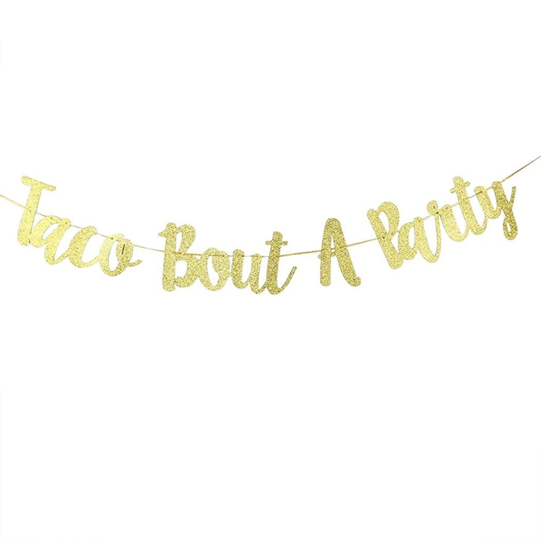 Karoo Jan Gold Glitter Taco Bout A Party Banner Wedding Anniversaryng Bunting Birthday Party Decorations Supplies