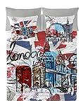 NATURALS London Graphic Funda Nórdica, Algodón, Multicolor, 135 cm