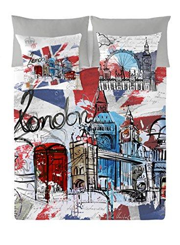 NATURALS London Graphic Funda Nórdica, Algodón, Multicolor, 150 cm