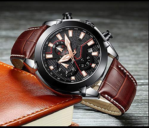 Voigoo Herrenuhr Luminous Quarz-Uhr-Mann Original Brand Fashion Geschäft wasserdichte Armbanduhr Military Gift Clock Masculino