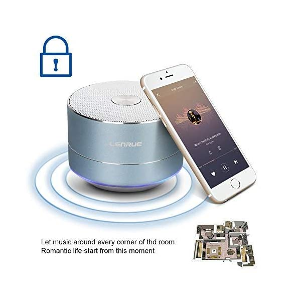 Portable Wireless Bluetooth Speaker with Built-in-Mic,Handsfree Call,AUX Line,TF Card,HD Sound and Bass for iPhone Ipad Android Smartphone and More 5