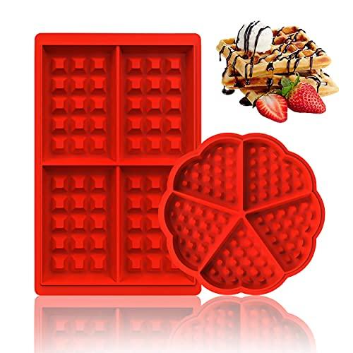 Molde Gofres Silicona, Molde para Gofres, Durable Y Fácil de Limpiar, Puedes Disfrutar de Deliciosos Gofres en Casa