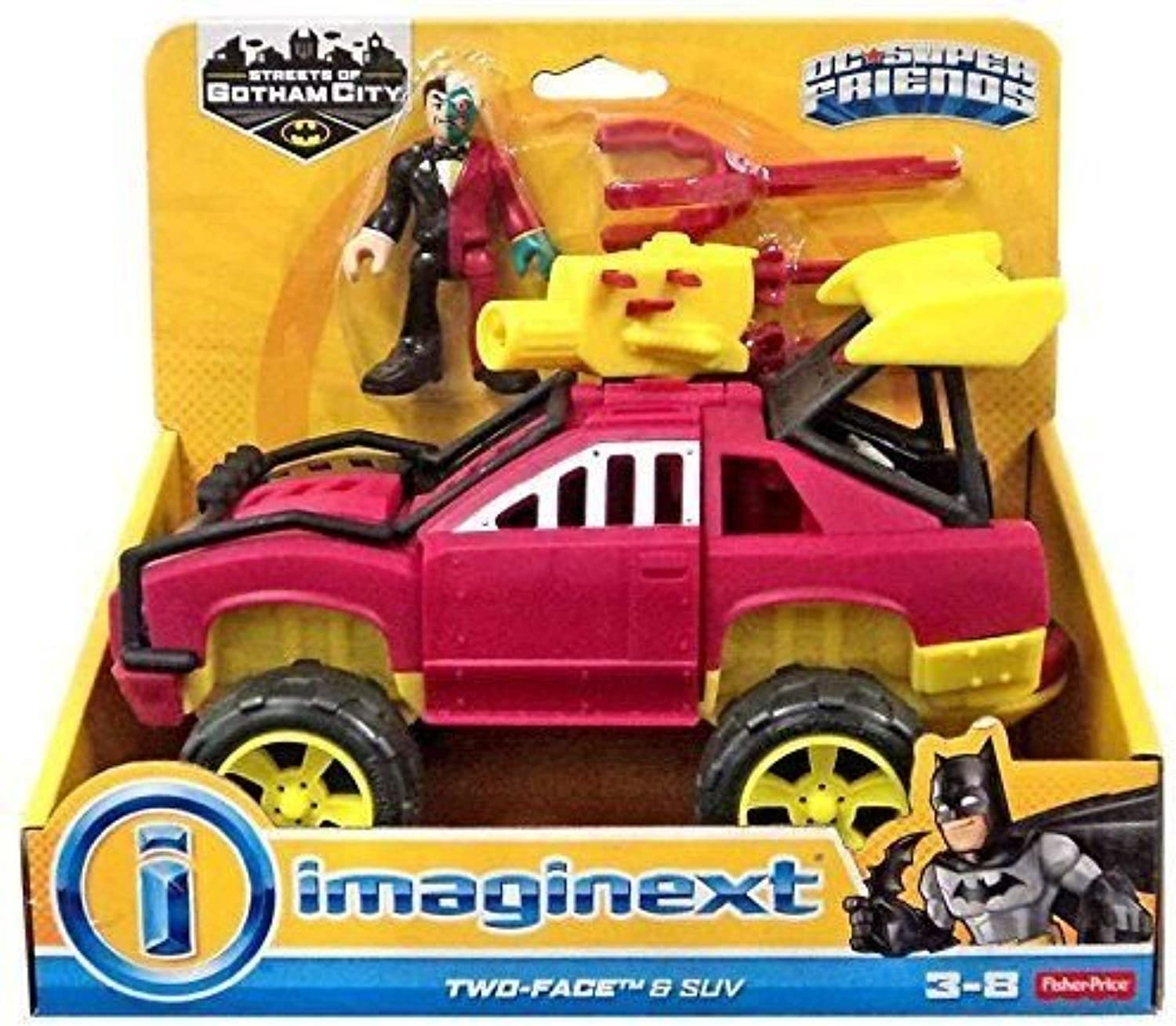 Price Imaginext Two Face & SUV DC Super Friends, g14e6ge4r-ge 4-tew6W211699
