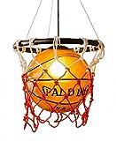 Creative Acrylic Basketball and Nets Colgante Luz, Home Loft Deco Light Light Youth/Habitación para niños Lámpara de colgante.