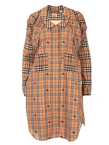 BURBERRY Luxury Fashion Damen 4562465 Beige Seide Kleid | Herbst Winter 19