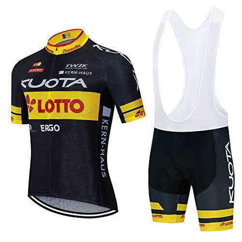 XGFHX Abbigliamento da ciclismo estivo da uomo con fodera in gel 3D abbigliamento da ciclismo da uomo + pantaloni da ciclismo MTB