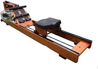 Water Resistance Row Machine Wood Material Abdominal Pectoral Arm Body Fitness Training Rowing Indoor Home